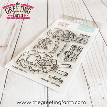 The Greeting Farm MISS ANYA BIRTHDAY Clear Stamps tgf600