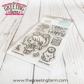 The Greeting Farm DONUT WORRY Clear Stamps tgf601