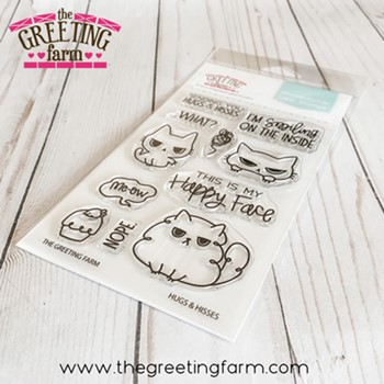 The Greeting Farm HUGS AND HISSES Clear Stamps tgf599
