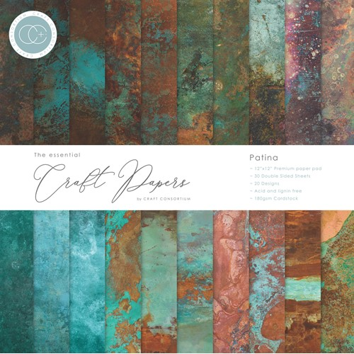 Craft Consortium PATINA 12 x 12 inch Paper Pad CCEPAD017 Preview Image