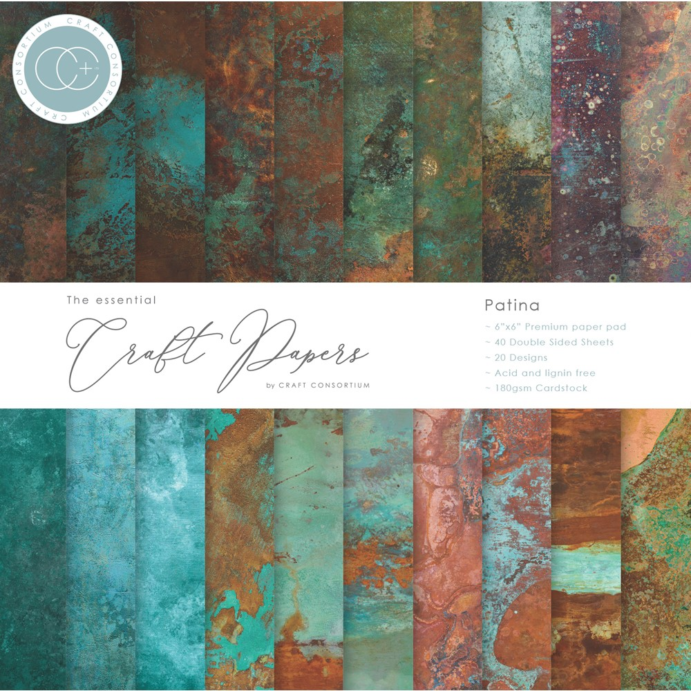 Craft Consortium The Essential Craft Papers PATINA 6 x 6 inch Paper Pad CCEPAD017B zoom image