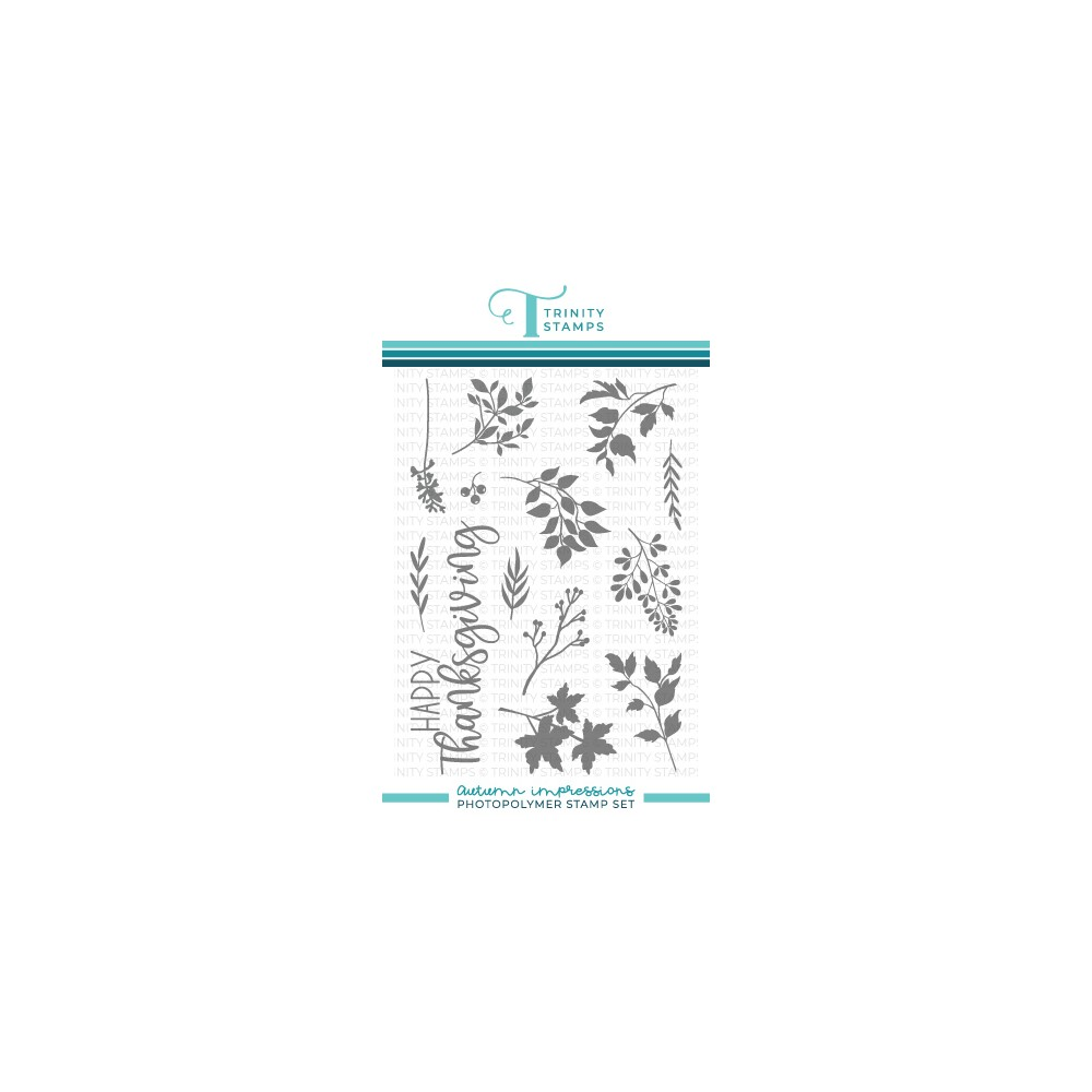 Trinity Stamps AUTUMN IMPRESSIONS Clear Stamp Set tps145 zoom image