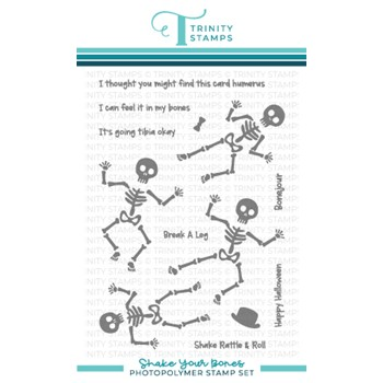 Trinity Stamps SHAKE YOUR BONES Clear Stamp Set tps142
