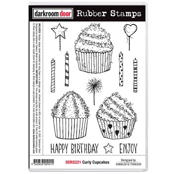 Darkroom Door Cling Stamps CURLY CUPCAKES ddrs221