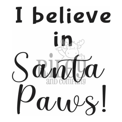 Riley And Company Funny Bones SANTA PAWS Cling Rubber Stamp RWD-940 Preview Image