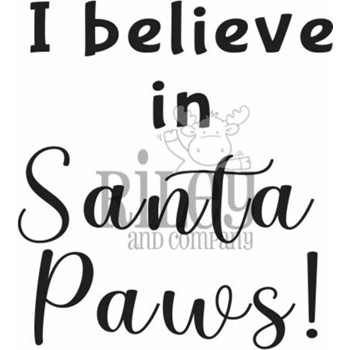 Riley And Company Funny Bones SANTA PAWS Cling Rubber Stamp RWD-940