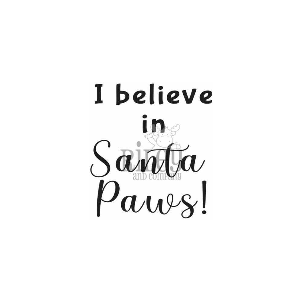 Riley And Company Funny Bones SANTA PAWS Cling Rubber Stamp RWD-940 zoom image