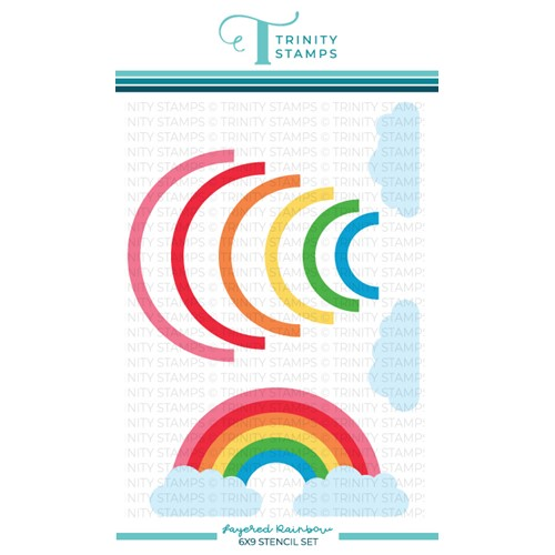 Trinity Stamps LAYERED RAINBOW Stencil Set tss042 Preview Image