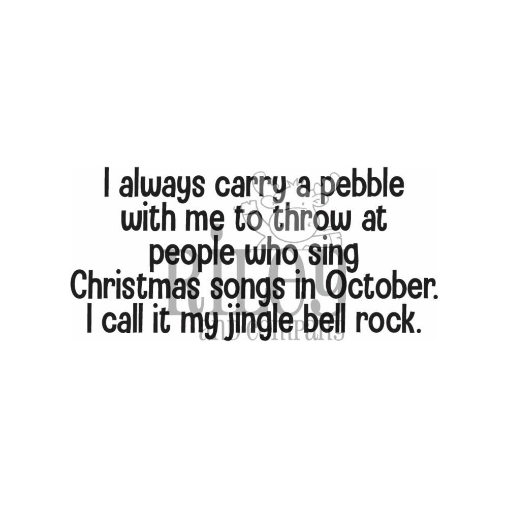 Riley And Company Funny Bones JINGLE BELL ROCK Cling Rubber Stamp RWD-928 zoom image