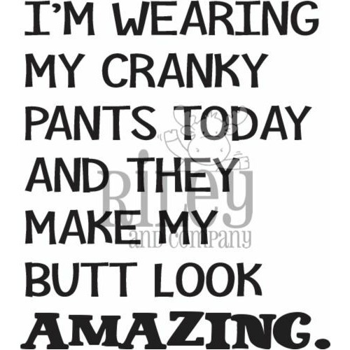 Riley And Company Funny Bones CRANKY PANTS Cling Rubber Stamp RWD-930 Preview Image