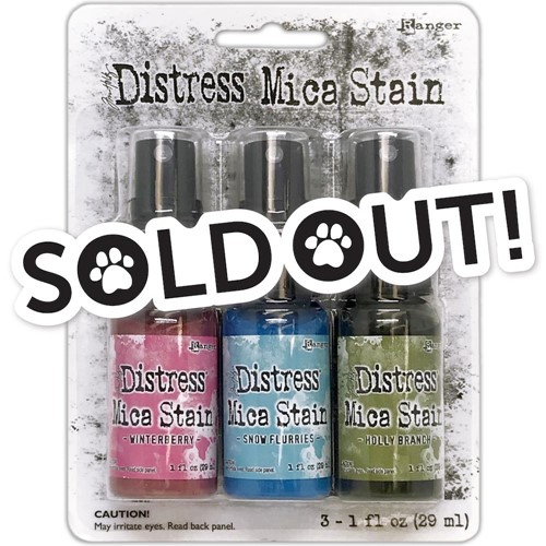 Tim Holtz Distress HOLIDAY MICA STAIN SET 2 Ranger tsck78241 Preview Image
