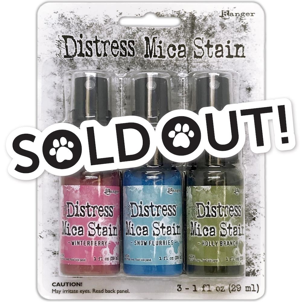 Tim Holtz Distress HOLIDAY MICA STAIN SET 2 Ranger tsck78241 zoom image