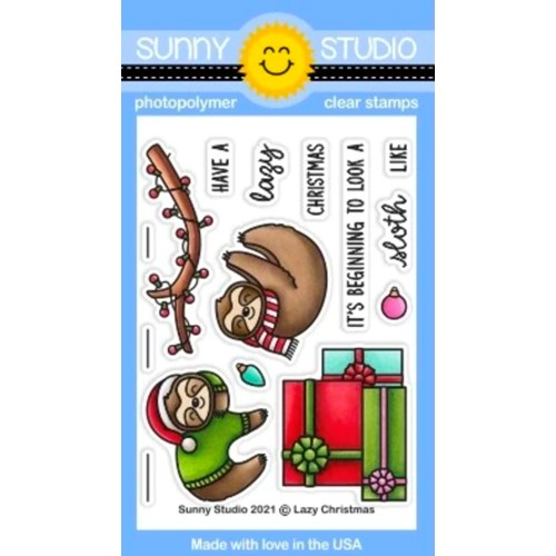 Sunny Studio LAZY CHRISTMAS Clear Stamps sscl-311 Preview Image