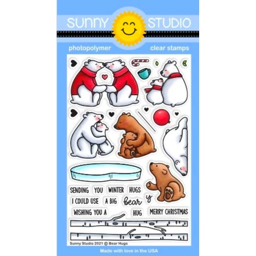 Sunny Studio BEAR HUGS Clear Stamps sscl-314 Preview Image