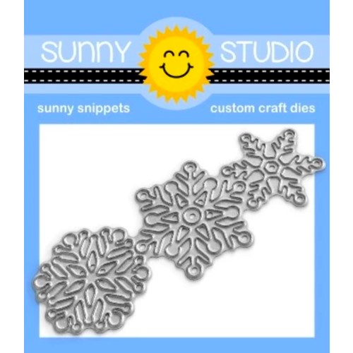Sunny Studio LACY SNOWFLAKES Snippets Dies ssdie-265 Preview Image