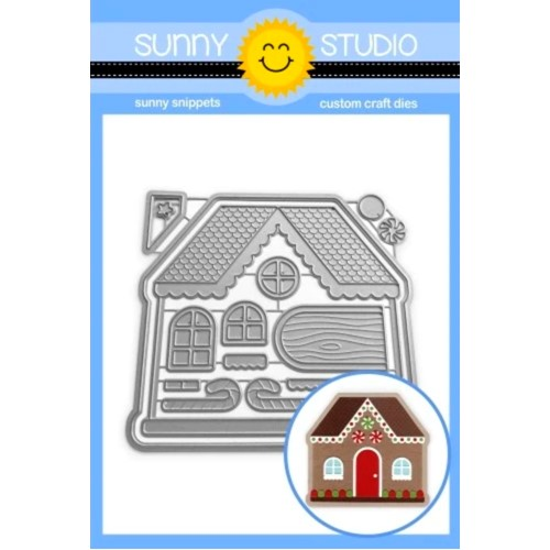 Sunny Studio GINGERBREAD HOUSE Snippets Dies ssdie-263 Preview Image