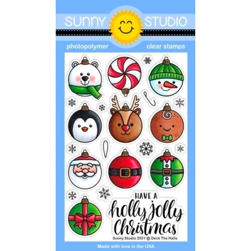 Sunny Studio DECK THE HALLS Clear Stamps sscl-308 Preview Image