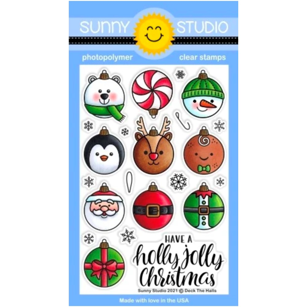 Sunny Studio DECK THE HALLS Clear Stamps sscl-308 zoom image