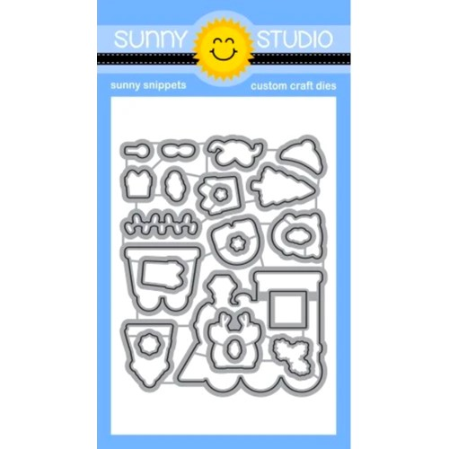 Sunny Studio HOLIDAY EXPRESS Snippets Dies ssdie-261 Preview Image