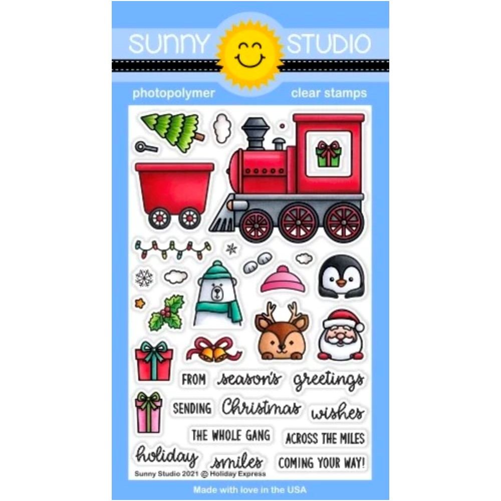 Sunny Studio HOLIDAY EXPRESS Clear Stamps sscl-313 zoom image