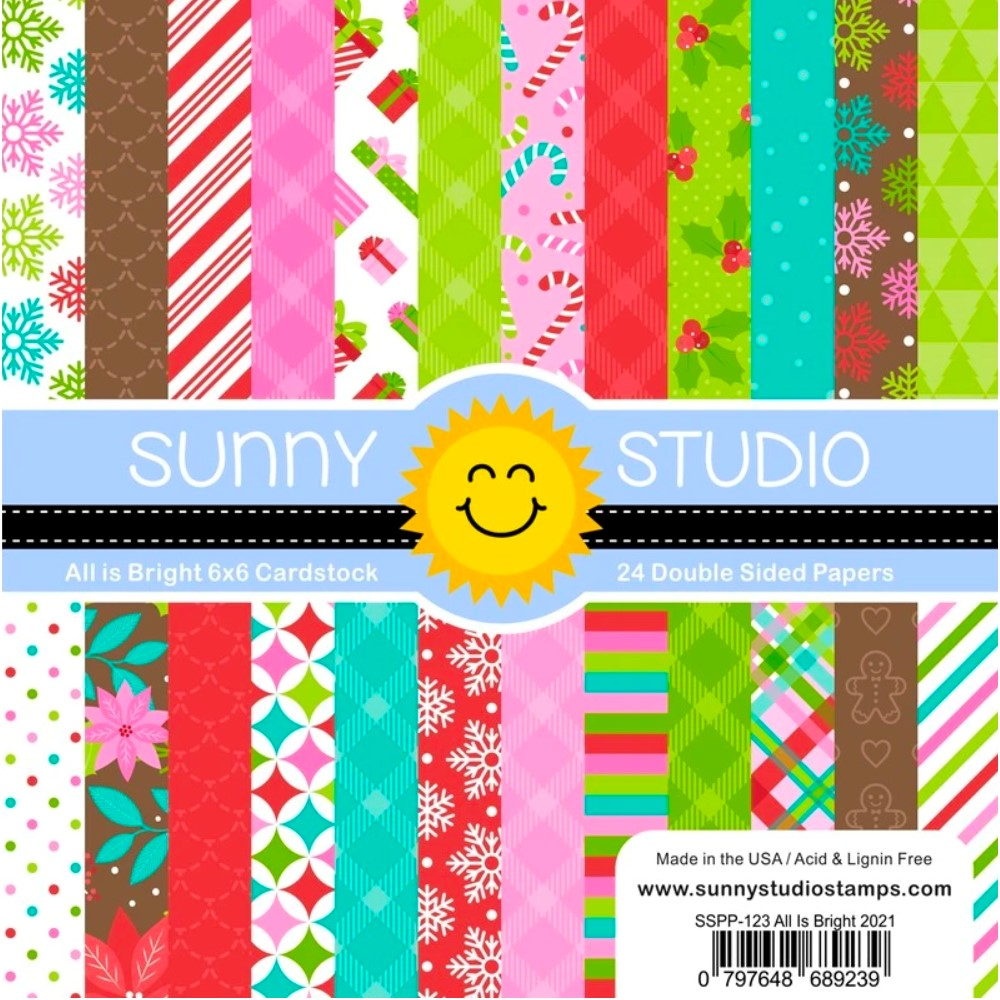 Sunny Studio ALL IS BRIGHT 6 x 6 Paper Pad sspp-123 zoom image