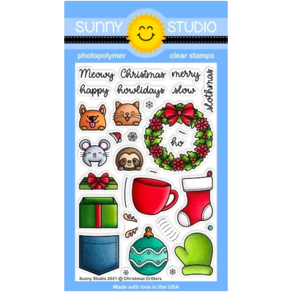 Sunny Studio CHRISTMAS CRITTERS Clear Stamps sscl-312 zoom image