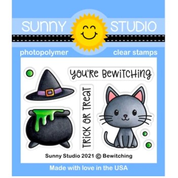 Sunny Studio BEWITCHING Clear Stamps sscl-309