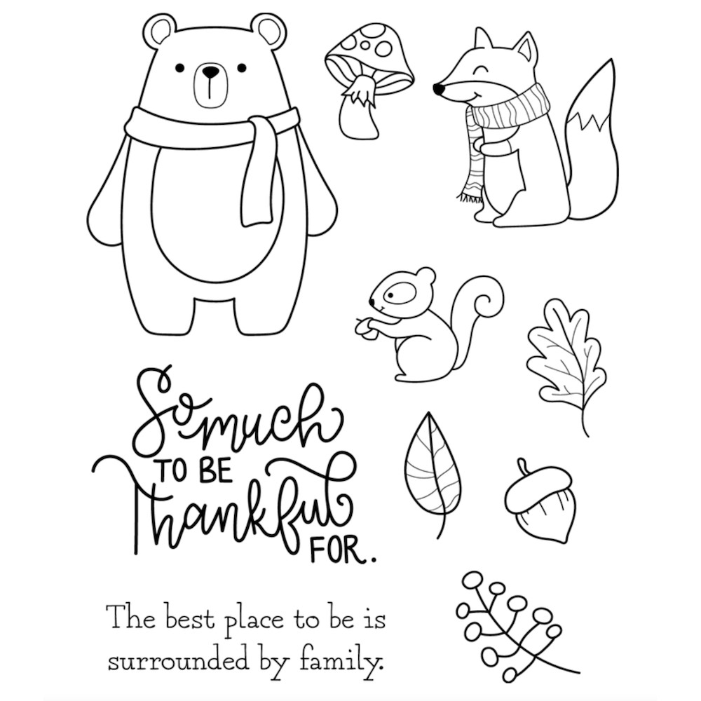 Maker's Movement WOODLAND FRIENDS Clear Stamp Set m12708 zoom image