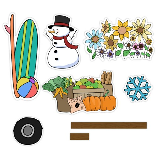 Maker's Movement HOME FOR THE HOLIDAYS SEASONS Die Set m12555 Preview Image