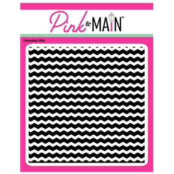 Pink and Main CHEVRON Embossing Folder PMT018