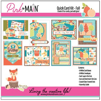 Pink and Main Quick Card Kit FALL PMP062
