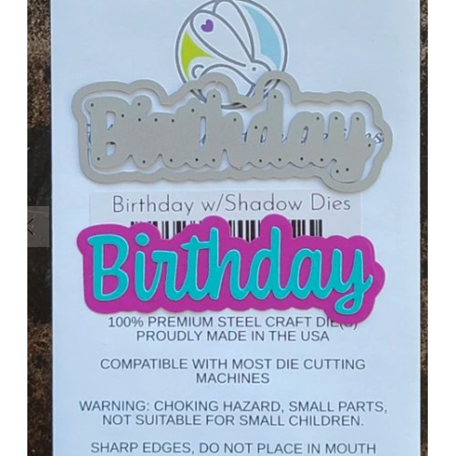 The Rabbit Hole Designs BIRTHDAY Scripty Word with Shadow Layer Dies TRH-119D Preview Image