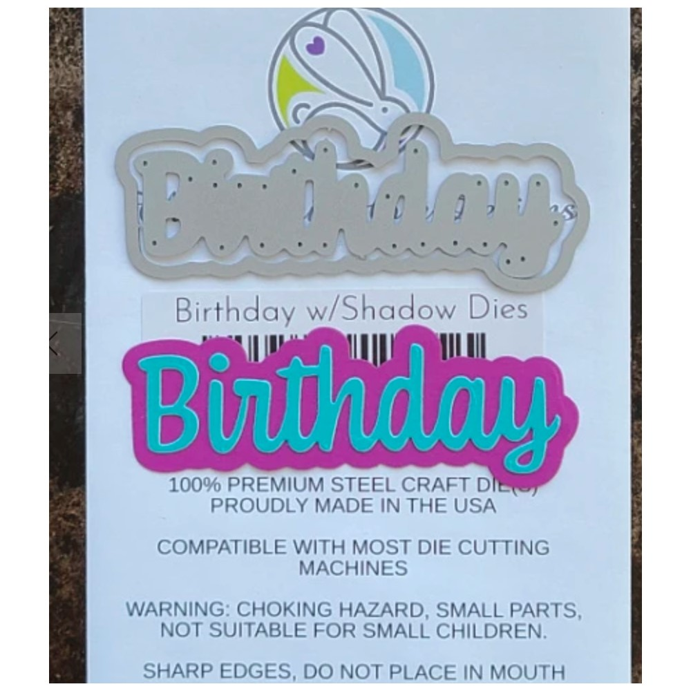 The Rabbit Hole Designs BIRTHDAY Scripty Word with Shadow Layer Dies TRH-119D zoom image