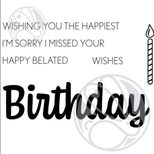 The Rabbit Hole Designs BIRTHDAY SCRIPTY Clear Stamps TRH-119 Preview Image