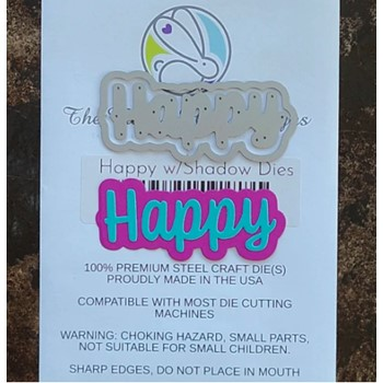 The Rabbit Hole Designs HAPPY Scripty Word with Shadow Layer Dies TRH-118D