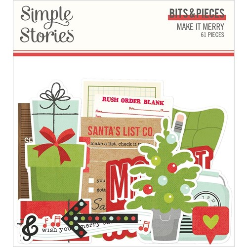 Simple Stories MAKE IT MERRY Bits And Pieces 15716 Preview Image