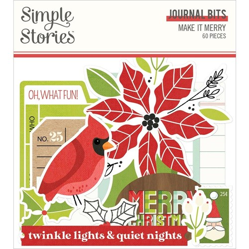 Simple Stories MAKE IT MERRY Journaling Bits And Pieces 15717 Preview Image