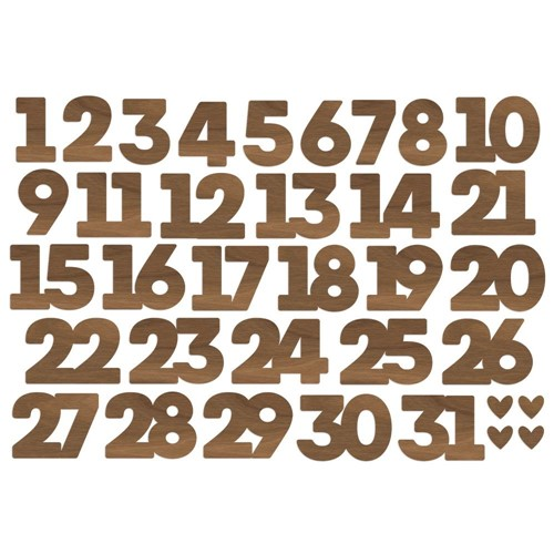 Simple Stories MAKE IT MERRY Number Bits And Pieces 15718 Preview Image