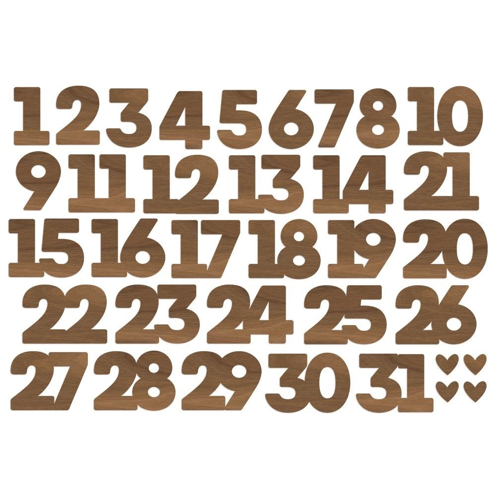 Simple Stories MAKE IT MERRY Number Bits And Pieces 15718 zoom image