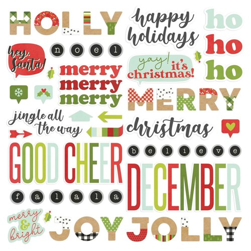 Simple Stories MAKE IT MERRY Foam Stickers 15721 Preview Image