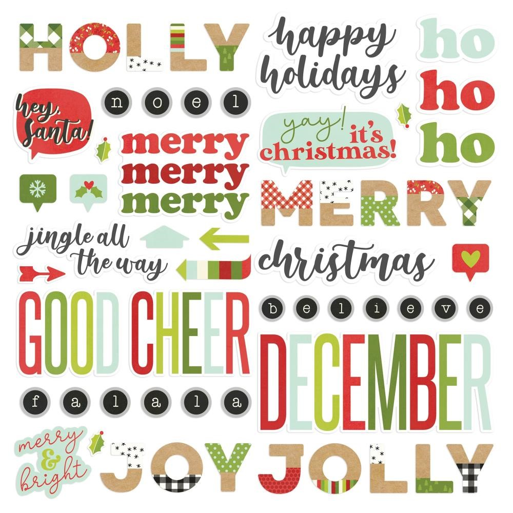 Simple Stories MAKE IT MERRY Foam Stickers 15721 zoom image