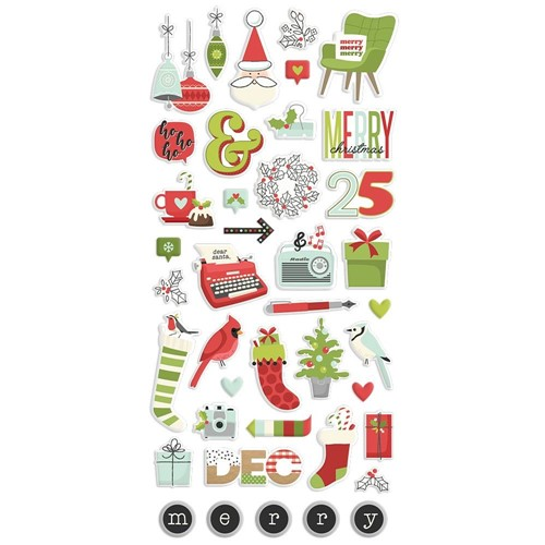 Simple Stories MAKE IT MERRY Puffy Stickers 15722 Preview Image