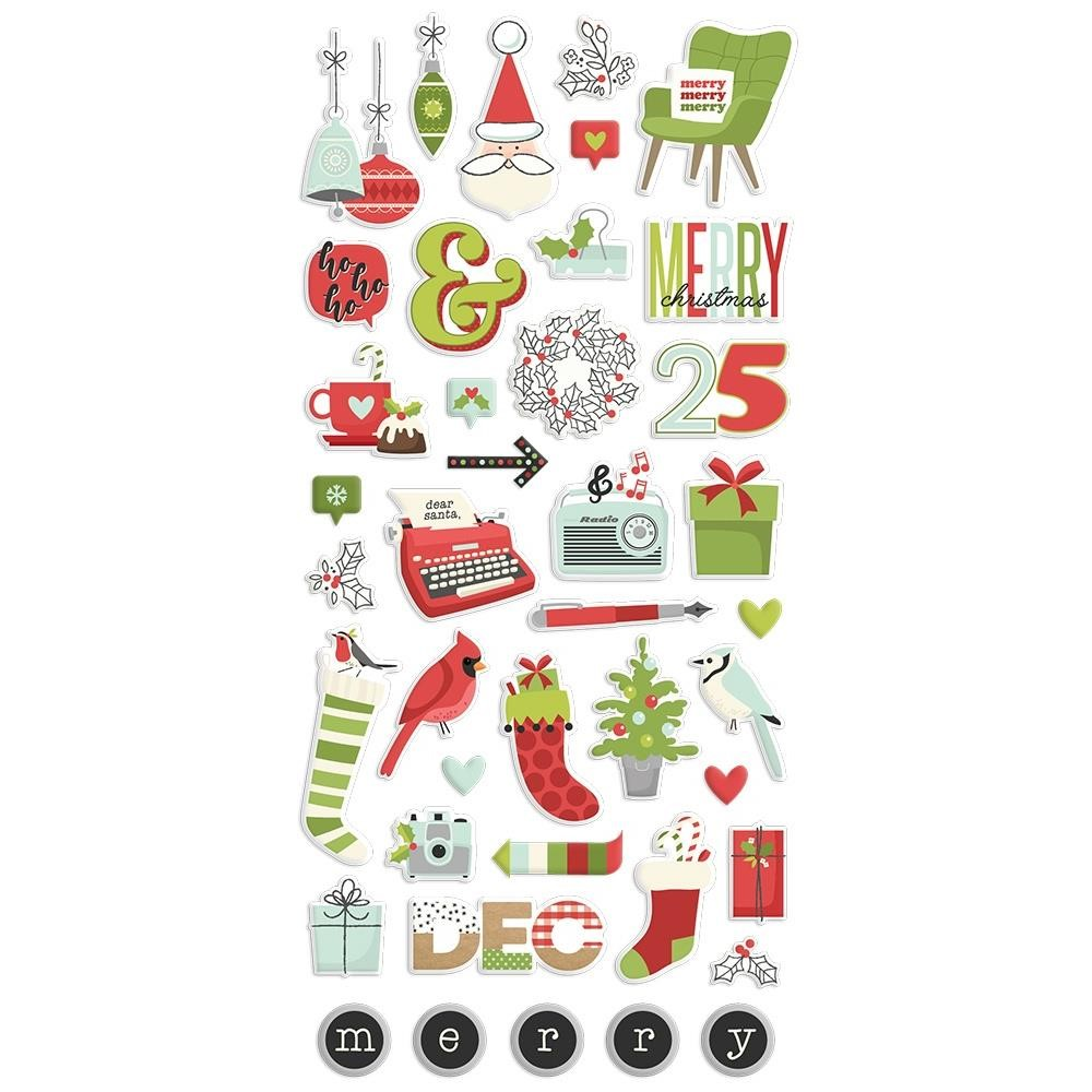 Simple Stories MAKE IT MERRY Puffy Stickers 15722 zoom image