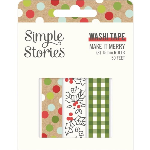Simple Stories MAKE IT MERRY Washi Tape 15725 Preview Image