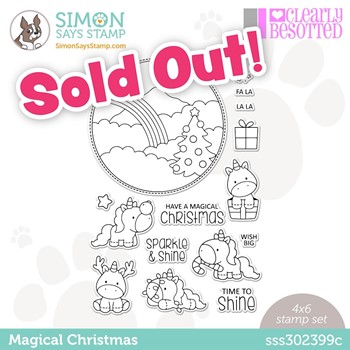 Clearly Besotted MAGICAL CHRISTMAS Stamptember Exclusive Stamp Set sss302399c