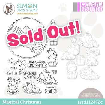 Clearly Besotted MAGICAL CHRISTMAS Stamptember Exclusive Stamp and Die Set sssd112472c