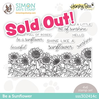 Honey Bee BE A SUNFLOWER Stamptember Exclusive Stamp Set sss302414c