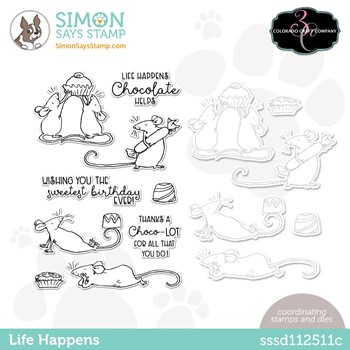 Colorado Craft Company LIFE HAPPENS Stamptember Exclusive Stamp and Die Set sssd112511c