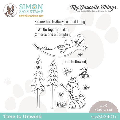 My Favorite Things TIME TO UNWIND Stamptember Exclusive Stamp Set sss302401c Preview Image