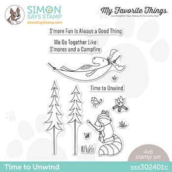 My Favorite Things TIME TO UNWIND Stamptember Exclusive Stamp Set sss302401c